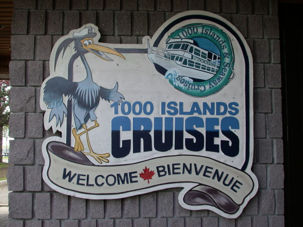 1000 Island Cruises sign in Brockville