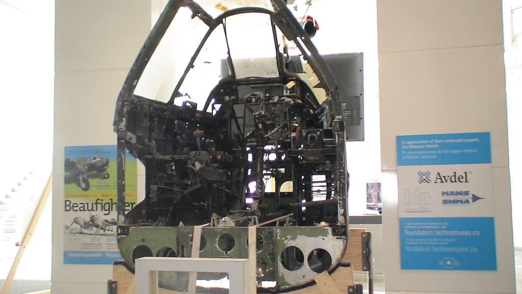 Aircraft cockpit at Ottawa Aviation Museum