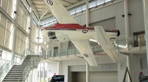 Jet in lobby of Ottawa's Aviation Museum