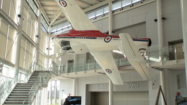 Jet in lobby of Ottawa's Aviation Museum