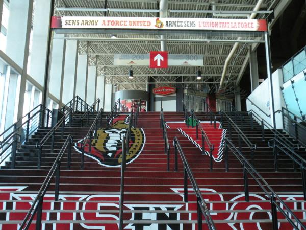 Ottawa Senators home rink at Canadian Tire Centre