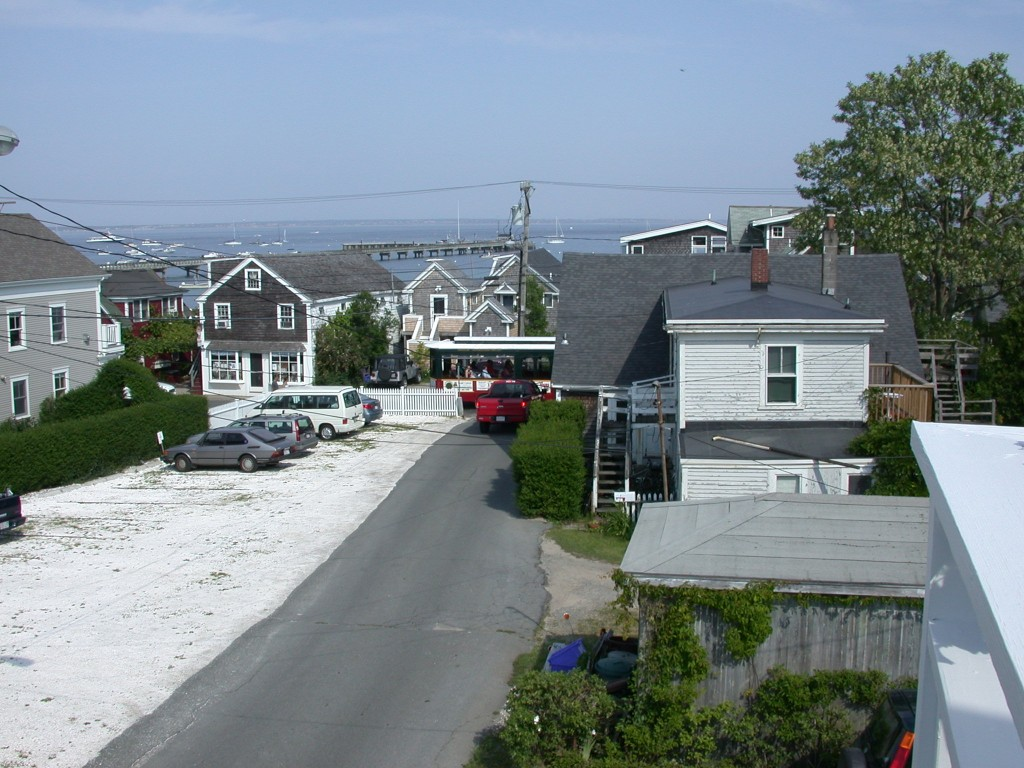 From the Ampersand guest house deck towards Cape Cod Bay