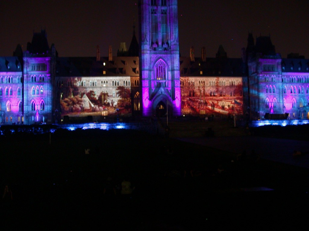 Ottawa Sound & Light show on Parliament Hill - Ottawa