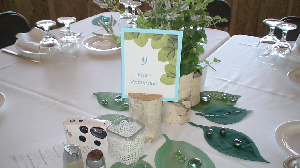 Table display at Saunders Farm wedding