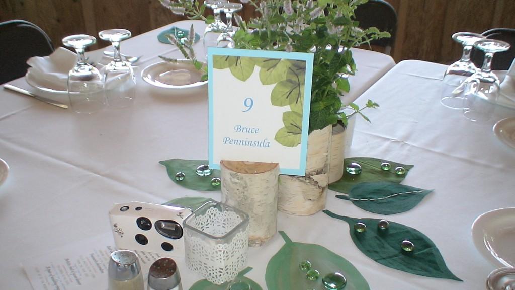Table display at Saunders Farm wedding