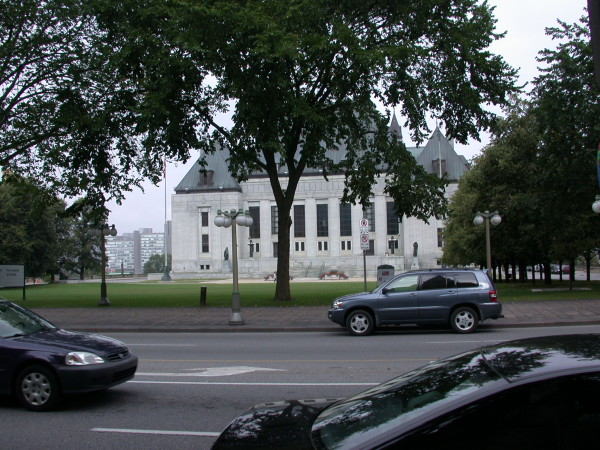 Supreme Court of Canada building in downtown Ottawa