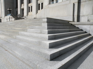 Staircase to the Supreme Court in downtown Ottawa