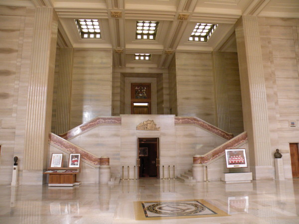 Grand entrance hall of the Supreme Court of Canada building in Ottawa