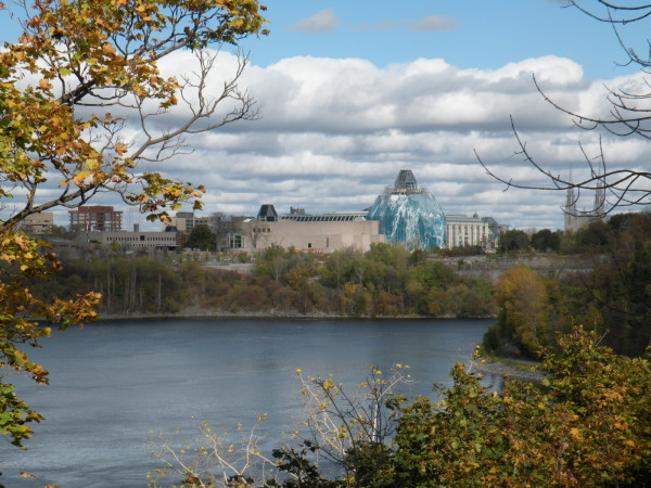 View from behind the Supreme Court of Canada building