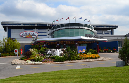 Entrance to Rideau Carleton Raceway near Ottawa