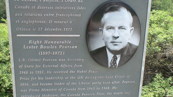 Grave site of Lester B. Pearson in Wakefield Quebec